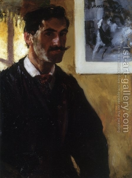 Self Portrait 1896 1897 by Alfred Henry Maurer - Reproduction Oil Painting