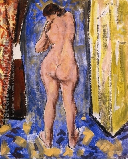 Standing Female Nude 1927 1928 by Alfred Henry Maurer - Reproduction Oil Painting