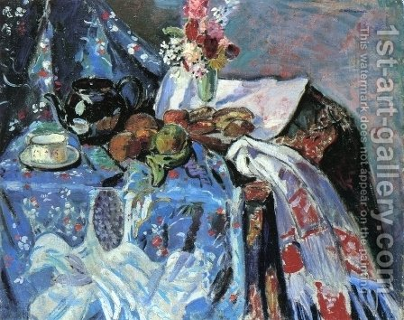 Still LIfe Date unknown by Alfred Henry Maurer - Reproduction Oil Painting
