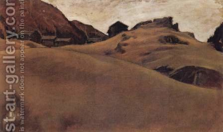 Almlandschaft im Otztal by Albin Egger-Lienz - Reproduction Oil Painting