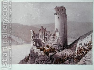 Schloss Ehrenfels in the Rhine Valley by (after) Ciceri, Eugene - Reproduction Oil Painting