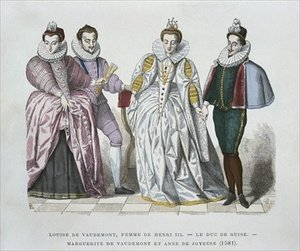 Louise of Lorraine Vaudemont 1553-1601 wife of Henri III Duke of Guise 1549-88 Marguerite of Vaudemont 1564-1625 and Anne of Joyeuse 1561-87