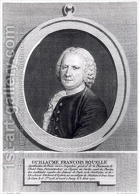 Guillaume Francois Rouelle 1703-70 by (after) Chevallier, V. - Reproduction Oil Painting