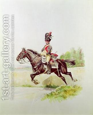 Soldier of the Imperial Guard on Horseback by Henri Georges Jacques Chartier - Reproduction Oil Painting