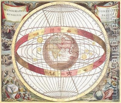 Planisphere by (after) Cellarius, Andreas - Reproduction Oil Painting