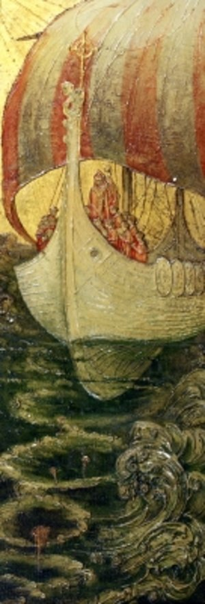 Art Deco painting reproductions: The Viking Ship
