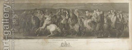 Pilgrimage to Canterbury by (after) Thomas Stothard - Reproduction Oil Painting