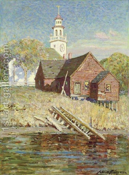 The Town Clock by Abbott Fuller Graves - Reproduction Oil Painting