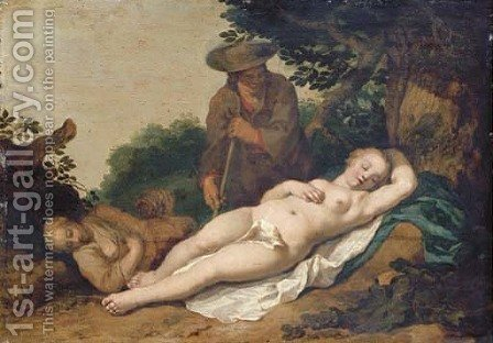 Cimon and Iphigenia by Abraham Bloemaert - Reproduction Oil Painting