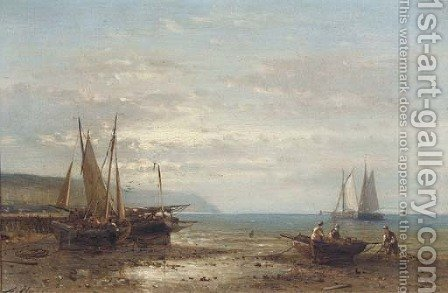 On the Scheldt by Abraham Hulk Jun. - Reproduction Oil Painting