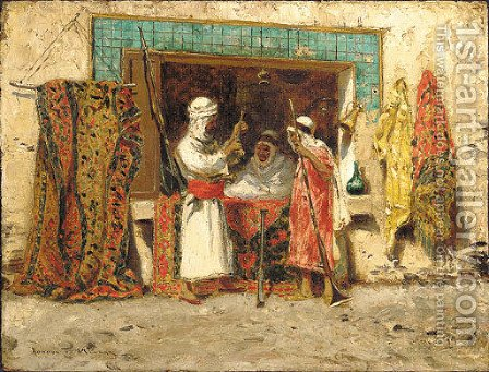 Rug Merchant by Addison Thomas Millar - Reproduction Oil Painting