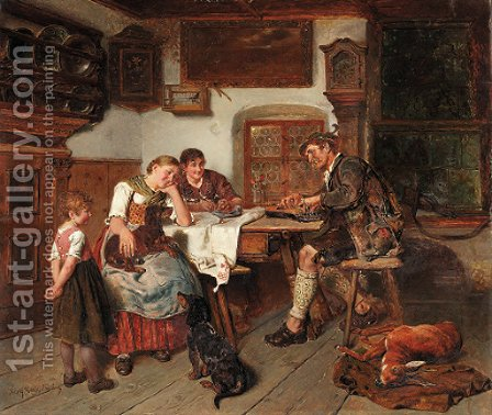 The huntsman's song by Adolf Eberle - Reproduction Oil Painting