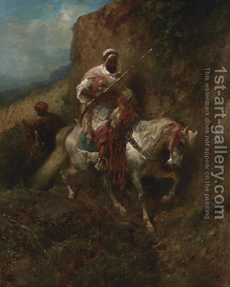 The Warrior by Adolf Schreyer - Reproduction Oil Painting