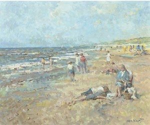 Adam van Noort reproductions - A day at the beach