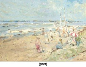 Adam van Noort reproductions - A sunny day at the beach