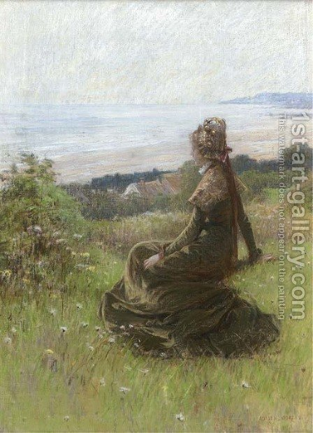Sur la falaise by Adrien Moreau - Reproduction Oil Painting