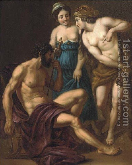 Hercules and Omphale by (after) Alessandro Turchi - Reproduction Oil Painting