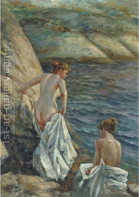 The bathers by Anders Zorn - Reproduction Oil Painting