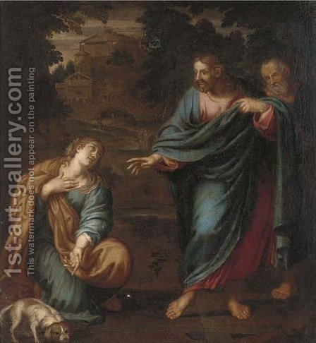Christ and the Canaanite Woman by (after) Annibale Carracci - Reproduction Oil Painting