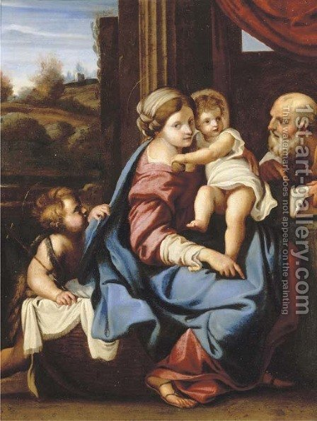 The Montalto Madonna by (after) Annibale Carracci - Reproduction Oil Painting