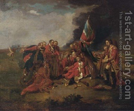 The death of General Wolfe by (after) Benjamin West - Reproduction Oil Painting