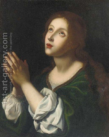 The Penitent Magdalen 2 by (after) Carlo Dolci - Reproduction Oil Painting
