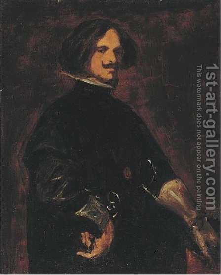 Self portrait by (after) Diego Rodriguez De Silva Y Velazquez - Reproduction Oil Painting