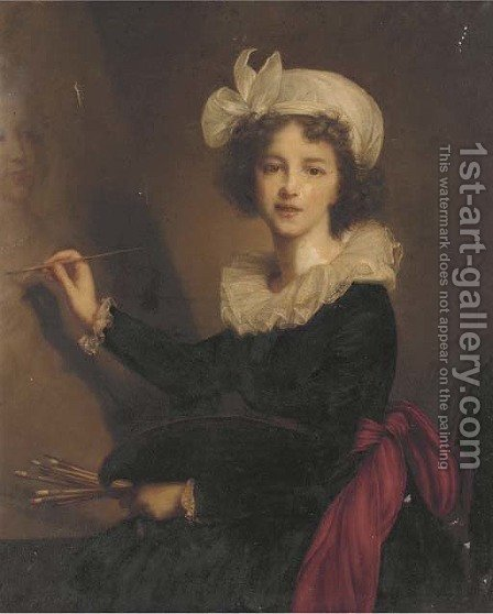 Self portrait by (after) Elisabeth Vigee-Lebrun - Reproduction Oil Painting