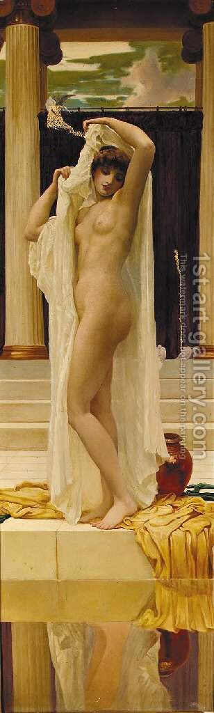 The Bath of Psyche by (after) Lord Frederick Leighton - Reproduction Oil Painting
