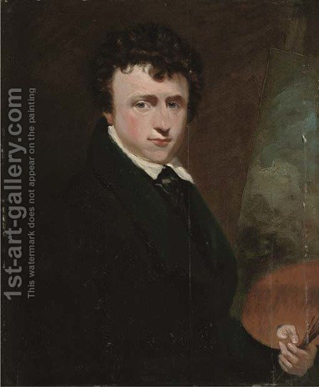 Portrait of Joseph Stannard (1797-1830) by (after) George Clint - Reproduction Oil Painting