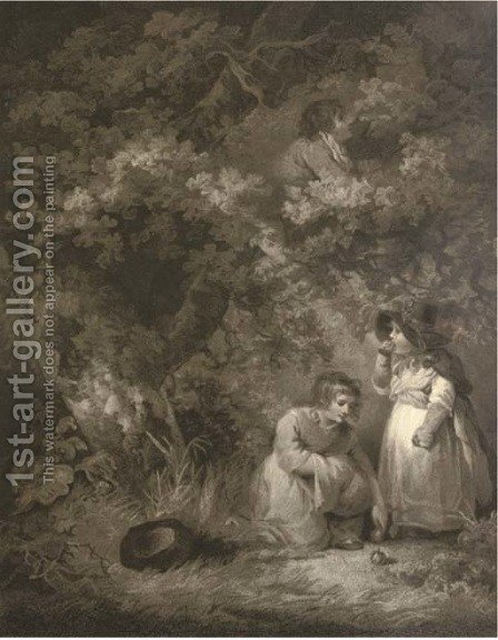Gathering Fruit by (after) George Morland - Reproduction Oil Painting
