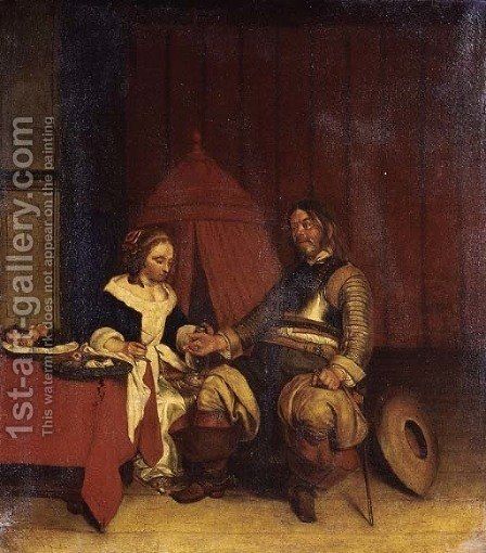 The Proposal by (after) Gerard Ter Borch - Reproduction Oil Painting