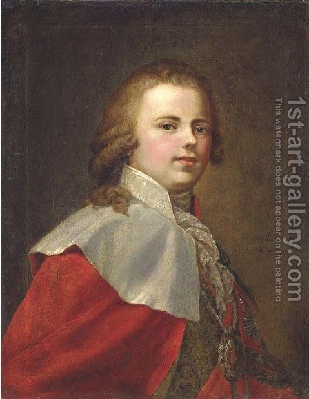 Portrait of Grand Duke Konstantin Pavlovich by (after) Johann Baptist The Elder Lampi - Reproduction Oil Painting