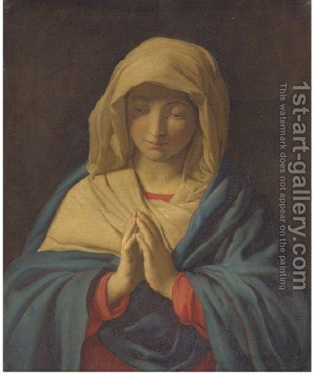 The Virgin at prayer 2 by (after) Giovanni Baptista Salvi, Called Sasseferroto - Reproduction Oil Painting