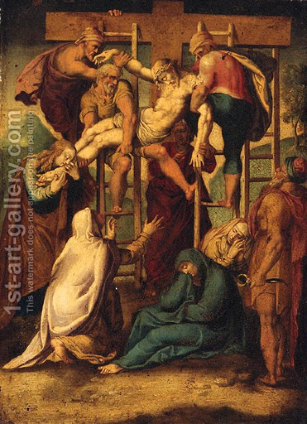 The Descent from the Cross by (after) Girolamo Muziano - Reproduction Oil Painting