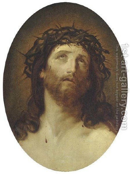 Christ Crowned with Thorns by (after) Guido Reni - Reproduction Oil Painting