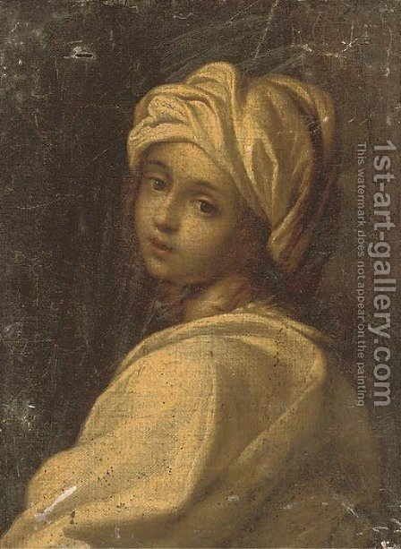 Portrait of a girl said to be Beatrice Cenci by (after) Guido Reni - Reproduction Oil Painting