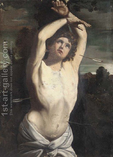 Saint Sebastian 2 by (after) Guido Reni - Reproduction Oil Painting