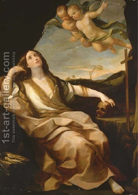 The Penitent Magdalene by (after) Guido Reni - Reproduction Oil Painting