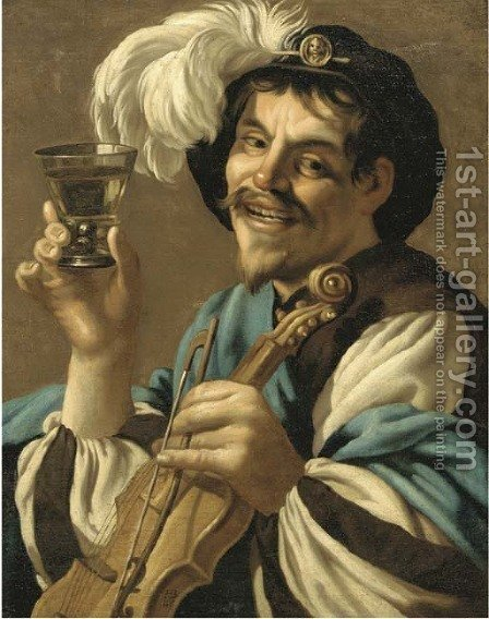 The Merry Drinker by Hendrick Terbrugghen - Reproduction Oil Painting
