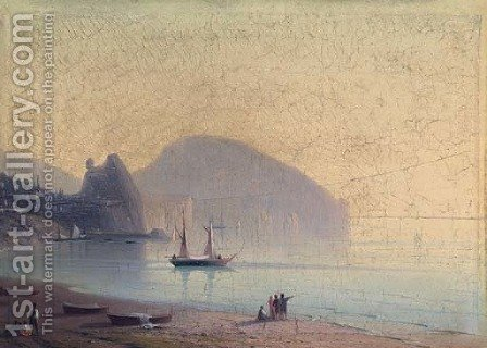 Morning mists over Ayu Dag by (after) Ivan Konstantinovich Aivazovsky - Reproduction Oil Painting