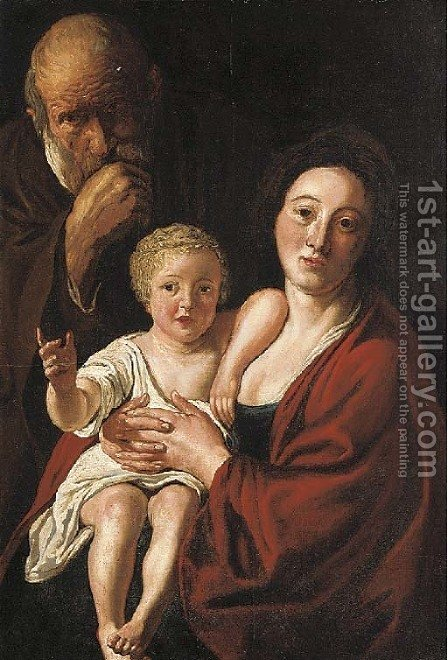 The Holy Family by (after) Jacob Jordaens - Reproduction Oil Painting