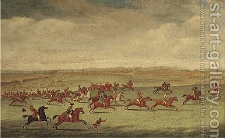 The first race run on Newmarket Heath by (after) James Seymour - Reproduction Oil Painting