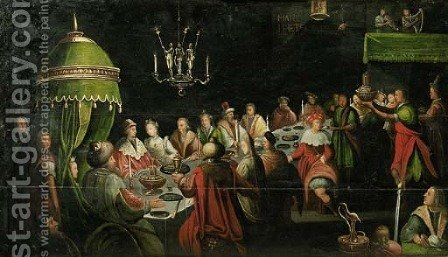 Belshazar's Feast by (after) Jan Harmensz. Muller - Reproduction Oil Painting