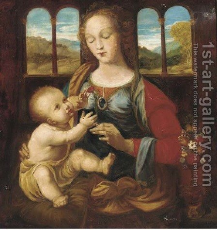 The Madonna and Child by (after) Leonardo Da Vinci - Reproduction Oil Painting