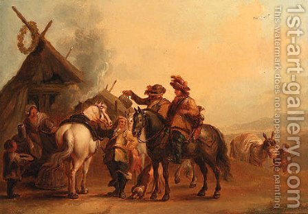 A Hunting Party by (after) Philips Wouwerman - Reproduction Oil Painting