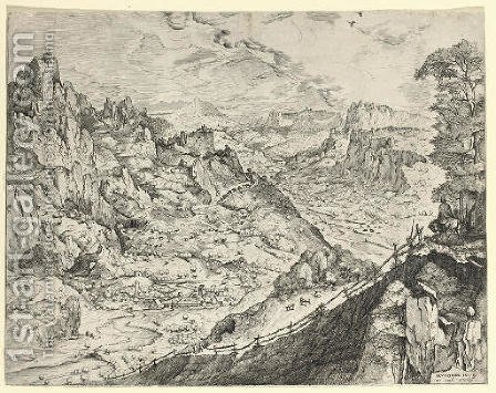 Large Alpine Landscape by (after) Pieter The Elder Bruegel - Reproduction Oil Painting