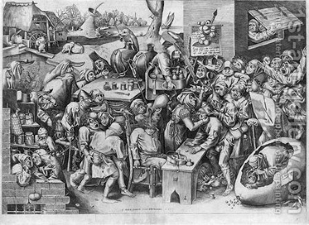 The Witch of Malleghem, by Pieter van der Heyden by (after) Pieter The Elder Bruegel - Reproduction Oil Painting