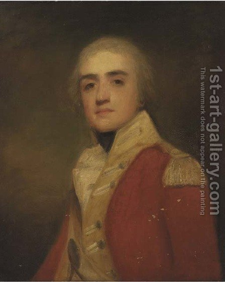 Portrait of Major General Sir Manley Power, bust-length, in dress uniform by (after) Sir Henry Raeburn - Reproduction Oil Painting