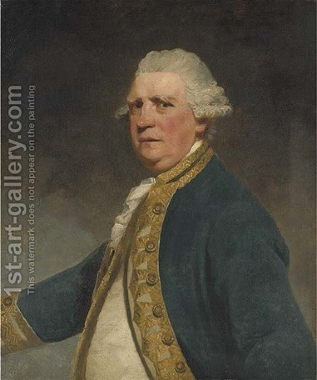 Portrait of Admiral Augustus Keppel by (after) Sir Joshua Reynolds - Reproduction Oil Painting